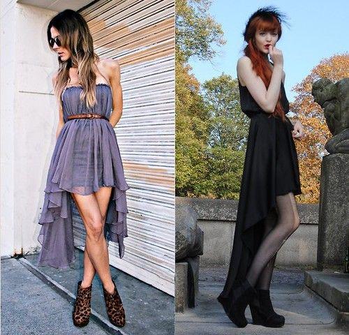 Vestidos curto na frente e longo atras simples